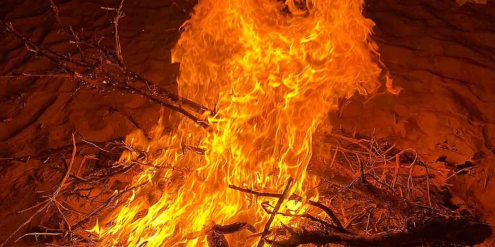 Osterfeuer in der Wüste