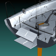 life raft box and swimming platfom