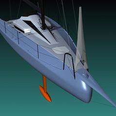 foldable bowsprit
