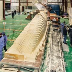 milling the hull block