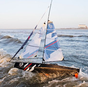 Volvo Ocean 65, RC Carbon Yacht with Gennaker