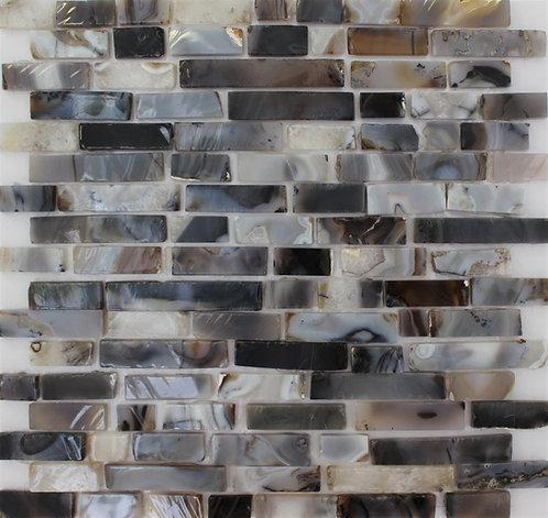 Beautiful Natural Khel Stone Agate cut in irregular mosaic rectangles