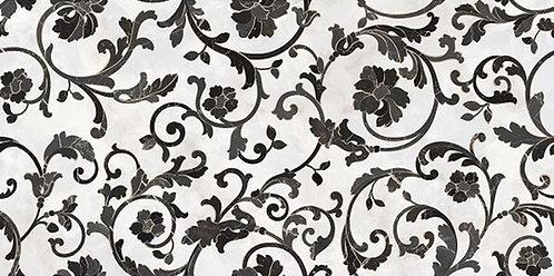 Versace Bianco Nero Decoro Floreale
