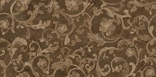 Versace Pulpis Marrone Decoro Floreale