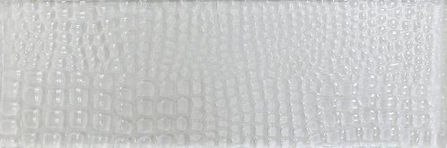 Sculpture Glass White Crocodile