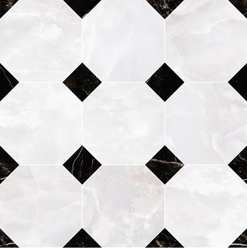Versace Onice Bianco Mosaico Ottagono