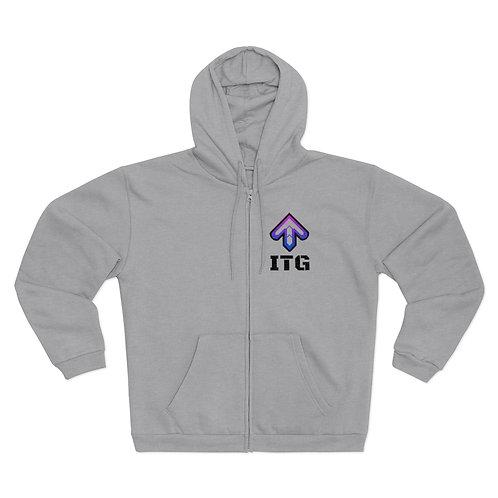 Unisex Hooded Zip Sweatshirt - In The Groove - Veste Cotton ouatté