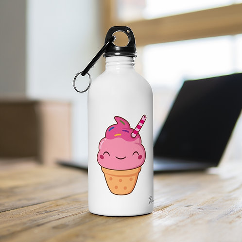 Stainless - Water Bottle - ice cream - Bouteille d'eau, creme glacé - Kawaii