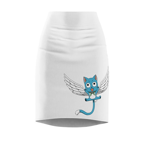 Women's Pencil Skirt - Fairy Tail, Happy/Carla - Jupe Moulante