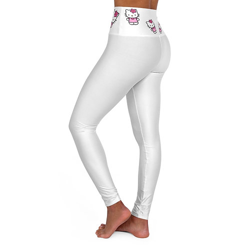 High Waisted Yoga Leggings - Leggings de Yoga Taille Haute - Hello Kitty
