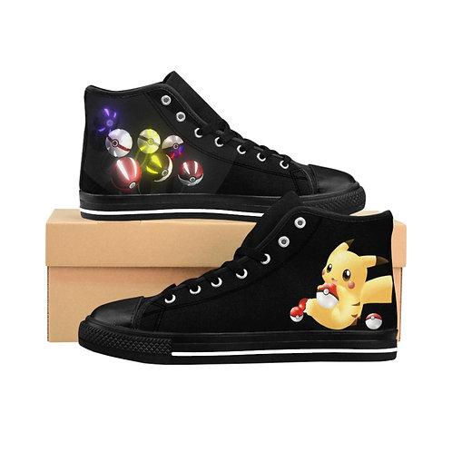 Women's High-top Sneakers - Chaussures Pour Femmes - Pokemon Pikachu - Pokeballs