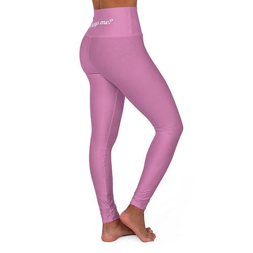 High Waisted Yoga Leggings Pink - Leggings Yoga Taille Haute Rose