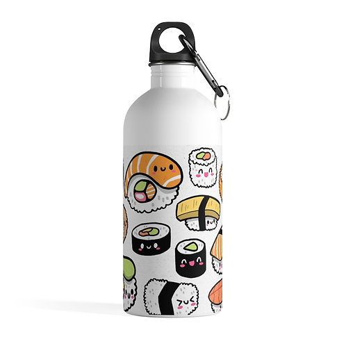 Stainless - Steel Water Bottle - Bouteille - Kawaii Sushi