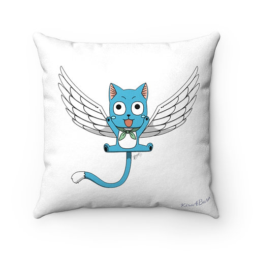 Reversible Square Pillow - Fairy Tail happy/carla - Coussin réversible