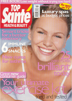 Cover TOP SANTE Magazine UK