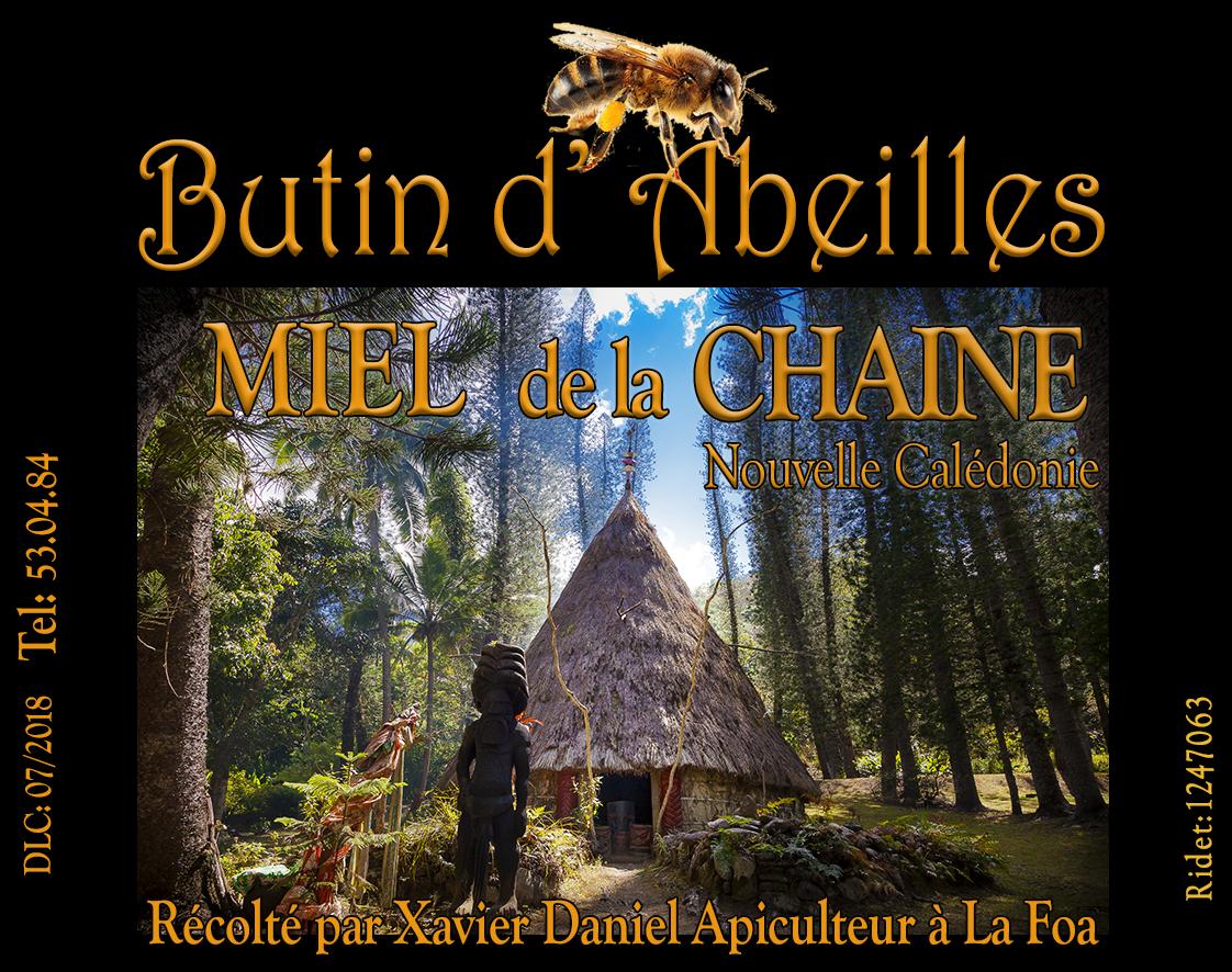 Etiquette MIEL Butin d'abeilles by