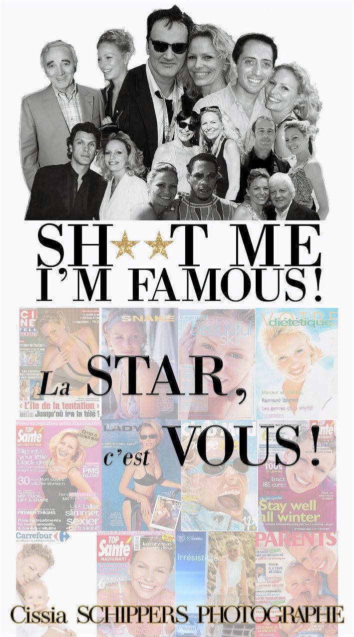 Shootmeimfamous, cissia schippers, nouméa, nouvelle caledonie, celebrités, quentin tarantino, gad elmaleh, charles aznavour, lio, joey star, marc lavoine, stars 80, le pouzin,portraits, stars photographe,