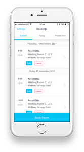 Condeco Mobile Booking APP, Communication Edge