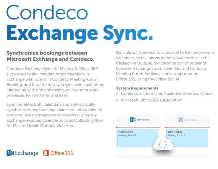 Condeco's Unique Exchange Sync