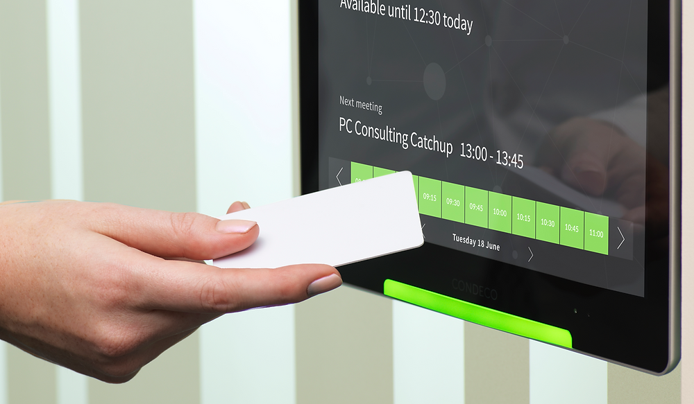 Screen Booking, Condeco RFID system for On Demand Booking, Communication Edge