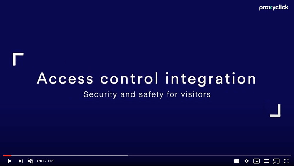 Add Express Check-in Access control With Proxyclick, Communication Edge