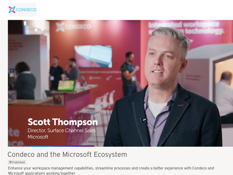 Microsoft Integration Condeco and the Connected Workplace