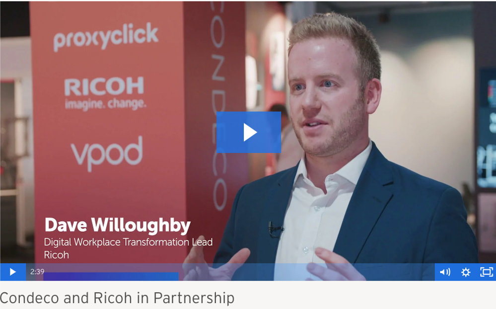 Ricoh and Condeco delivering the connected workplace vision