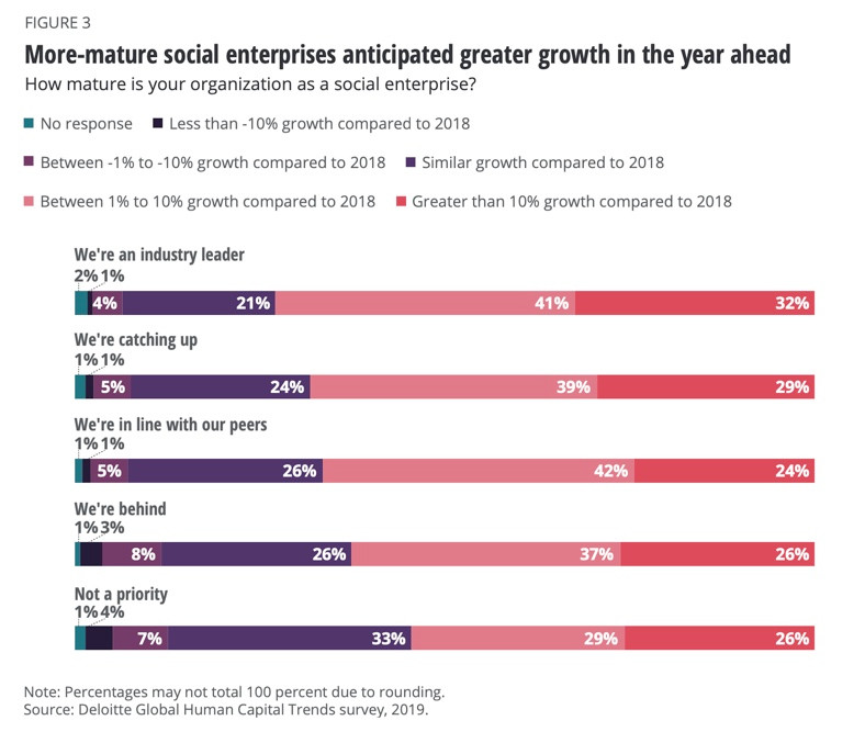 The Social Enterprise - growth expectations, Communication Edge