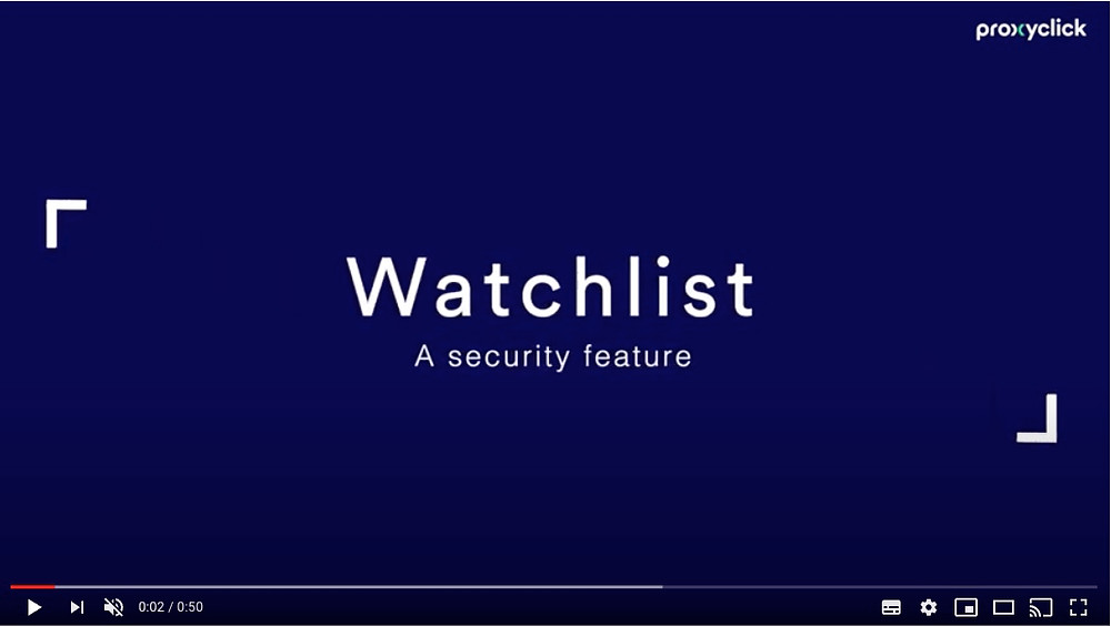 Add Security Watchlists to your reception process with Proxyclick, Communication Edge