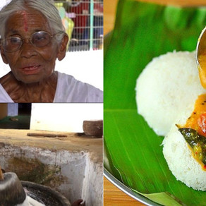 Kamalathal's – 80 year old granny who showed her kindness by selling idlis just for 1 Rupee.