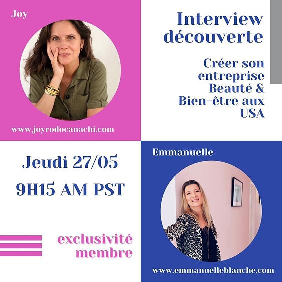 """Interview découverte """"Créer son entreprise Beauté & Bien-être aux USA"""""""