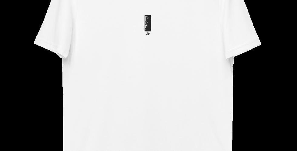 Per. Logo Center Organic Cotton Embroidered T-shirt - White