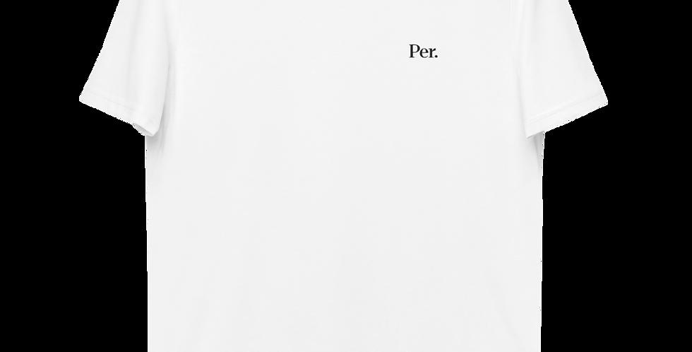 Per. Logo Organic Cotton Embroidered T-shirt - White