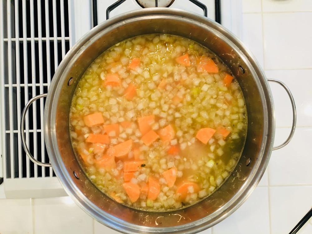 boiling soup