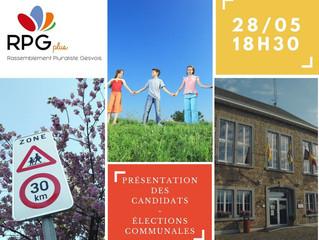 Présentation des candidats - le 28 mai à 18h30
