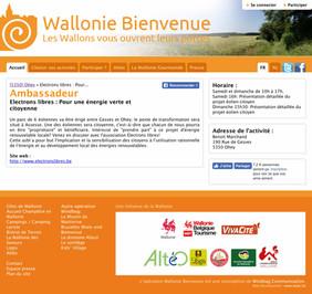 Electrons Libres présent à Wallonie-Bienvenue