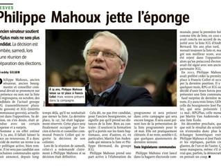 Philippe Mahoux, les conseils d'un sage