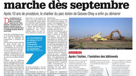 """Les Géantes du Samson dans """"La Meuse""""."""