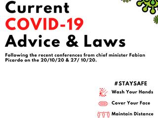 Current COVID-19 Laws & Public Advice.