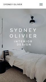 Portfolio website templates – Interior Designer