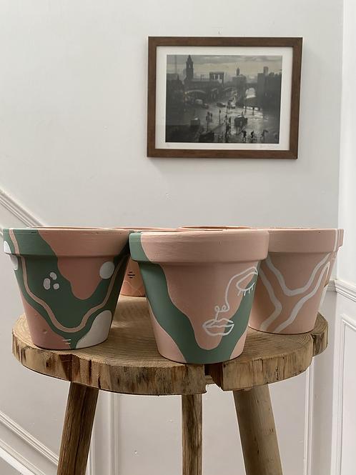 Painted Pots by Grace Cooper