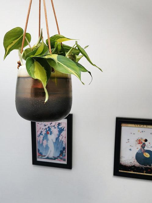 Torino amber hanging planter