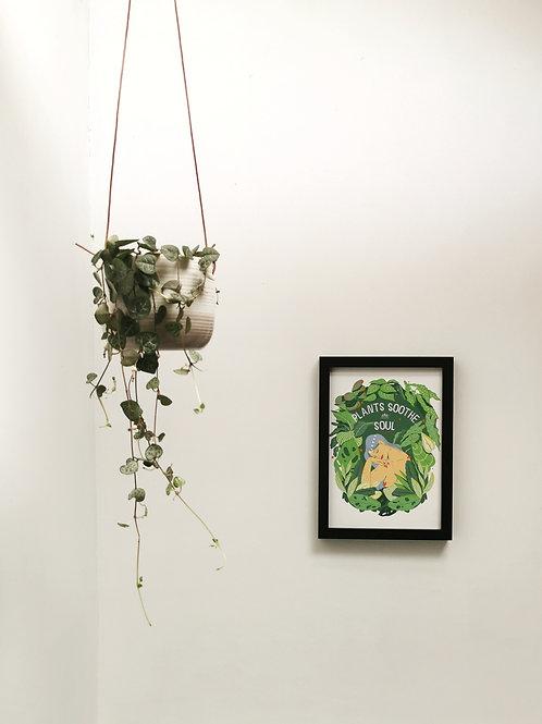 Small Ripple Hanging Planter