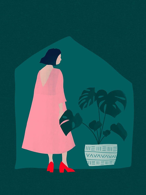 Dress up to stay in A4 Giclee Art Print