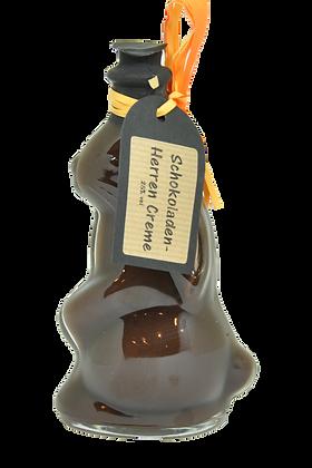 Hasenflasche mit Schokoladen Herren Creme