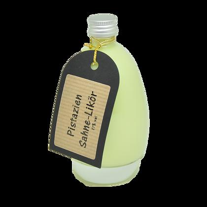Eierflasche mit Pistazien Sahne-Likör