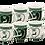Thumbnail: 6er Set bayrisches Kaffeehaferl grün / weiß