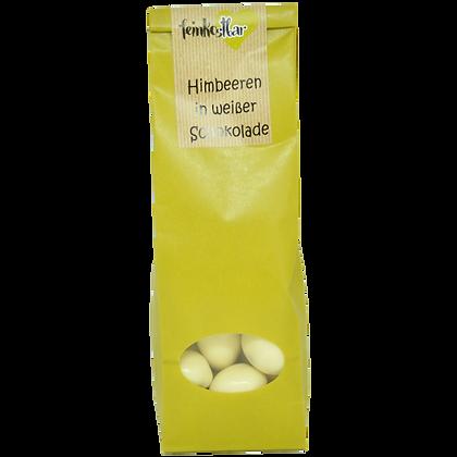 Himbeeren in weißer Schokolade