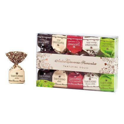 Schokoladentrüffel Geschenkbox mit 4 Sorten Tartufini - mit Haselnüssen aus dem