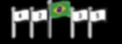 Panóplia com número de bandeiras ímpares.
